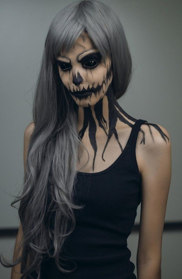 Halloween Spooky Skeleton Makeup Design